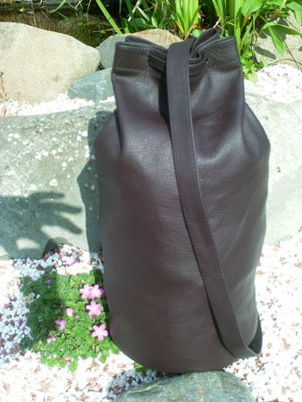 duffel leather daysack bag