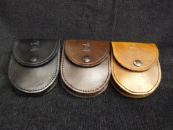 leather horseshoe shape pouch