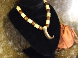 faux bear claw necklace