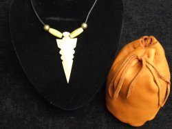 bone arrowhead necklace