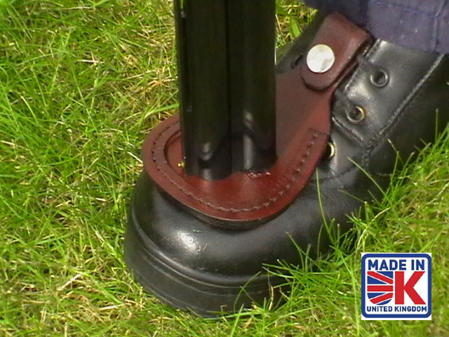 leather shooters toe barrel pad rest protector